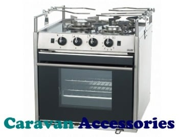 No Longer Available SC433M Dometic SMEV 3 Burner Glass Top Cooker, Oven, Grill & IGN With Gimbles & Pan Support