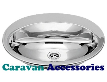 CLA1442 CAN Non-Brushed Stainless Steel (Oval Semi-Spherical Sink) with Tap Lip