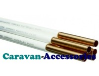 GPC1010CW 10mm White Sleeved Copper Gas Pipe 0.6mm Wall (PER METRE)