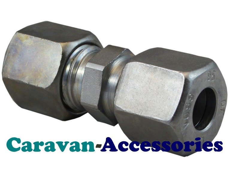 GSTR8 8mm Zinc Plated Straight Gas Connector
