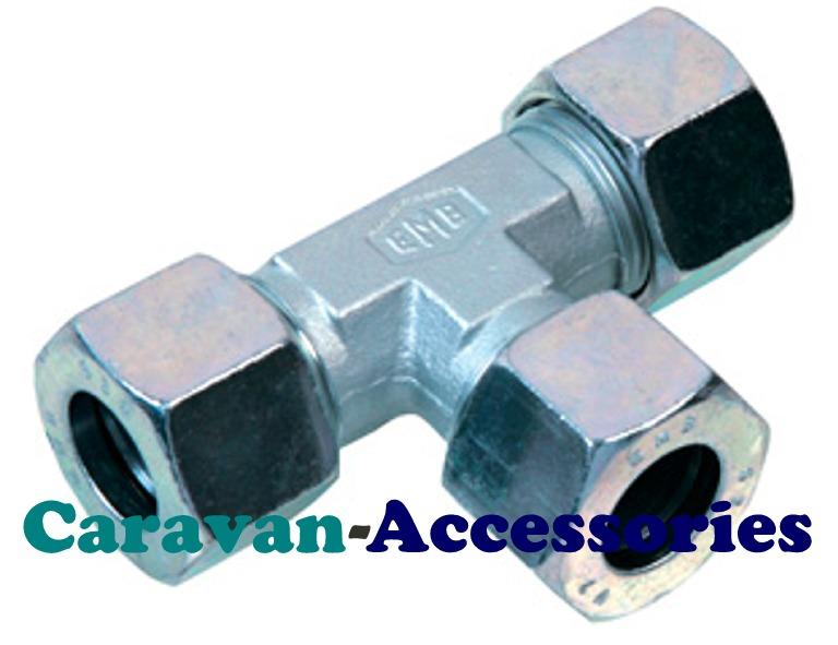 GTEE8 8mm Zinc Plated Tee Gas Connector