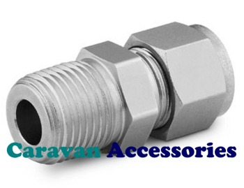 GSTUD8 Zinc Plated Straight Stud Gas Connector