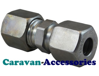 GSTR810 10mm to 8mm Straight Gas Reducer Olive Connections