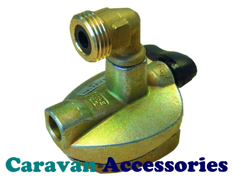 Truma Spare 51.4.490.0002 27mm Adaptor Clip-On Gas Cylinder to Butane Pigtail Elbow Top Connector