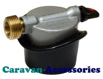 GCYADJBO 21mm Adaptor Jumbo Clip-On Gas Cylinder to Butane Pigtail