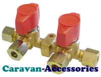 GVB2 8mm 2 Way Gas Manifold Valve