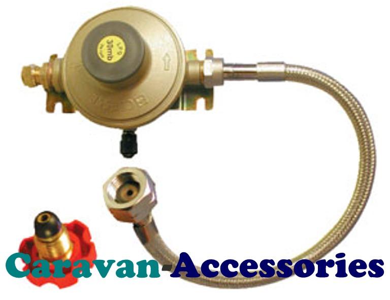 GREG1775 Gaslow 30mbar Caravan Regulator System - 8mm Copper Pipe