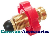 GPTADBUTPRO Easy Fit Adaptor Co-Convert 21.8LH Butane Hoses To Fit POL Propane Cylinders