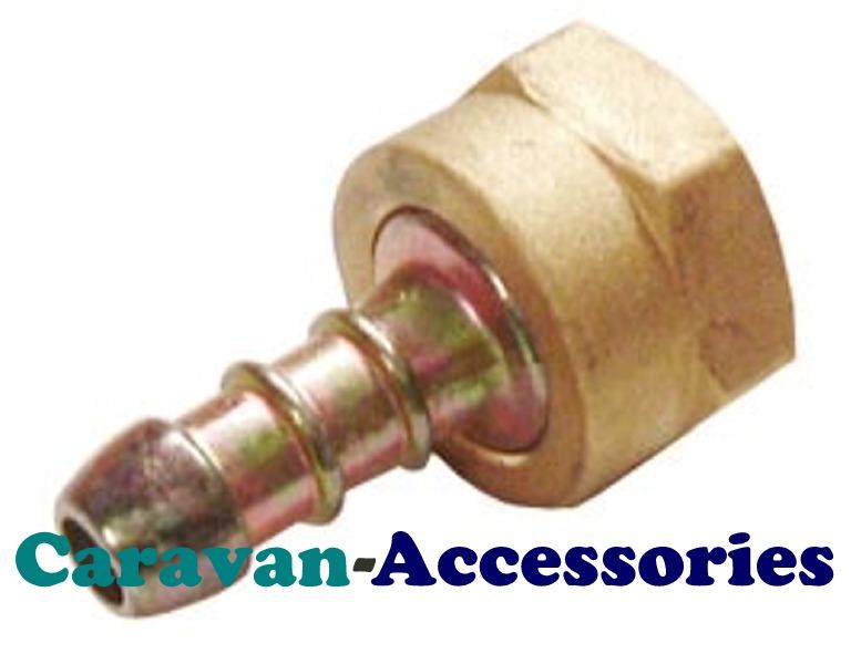 GAD208H W20 Nut & 8mm Male Hose Barb Gas Fitting