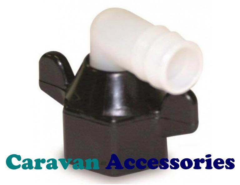 "SFELB050 Shurflo Pump Outlet Swivel Elbow 1/2"" Barb Fitting"