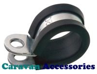 "GPCLIP8 8mm Rubber Lined ""P"" Clip For Gas Pipe"