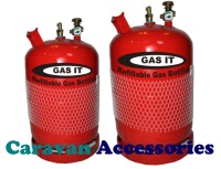 GRB06G Gas-It Vapor Refillable 6Kg Gas Bottle With Gauge