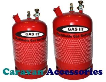 GRB06G Gas-It Vapor Refillable 6Kg Gas Bottle With Gauge
