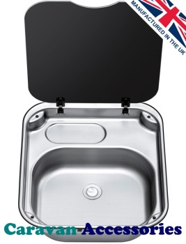 TCSBL3410 THETFORD Rectangular Bowl Sink Unit With Glass Lid