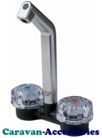 DLT541C Reich Deluxe Microswitched Mixer Hot & Cold Fold Down Tap (10-12mm Barbed Tails)
