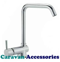"DST3010C Premium Designer Marin Single Lever Kitchen Mixer Hot & Cold Tap (3/8""BSP Flexi-tails)"