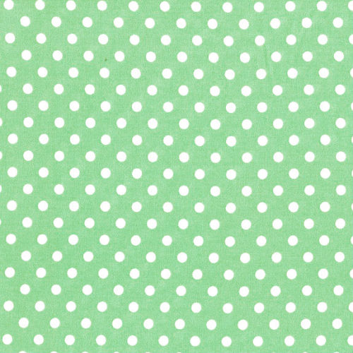 3mm Tiny Dots Pistachio by Rose and Hubble 100% Cotton