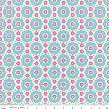 Summer Song Floral Blue by Riley Blake 100% Cotton 20 x 109 cm