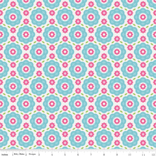Summer Song Floral Blue by Riley Blake 100% Cotton