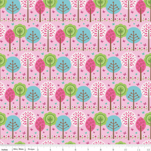 Summer Song Trees Pink by Riley Blake 100% Cotton