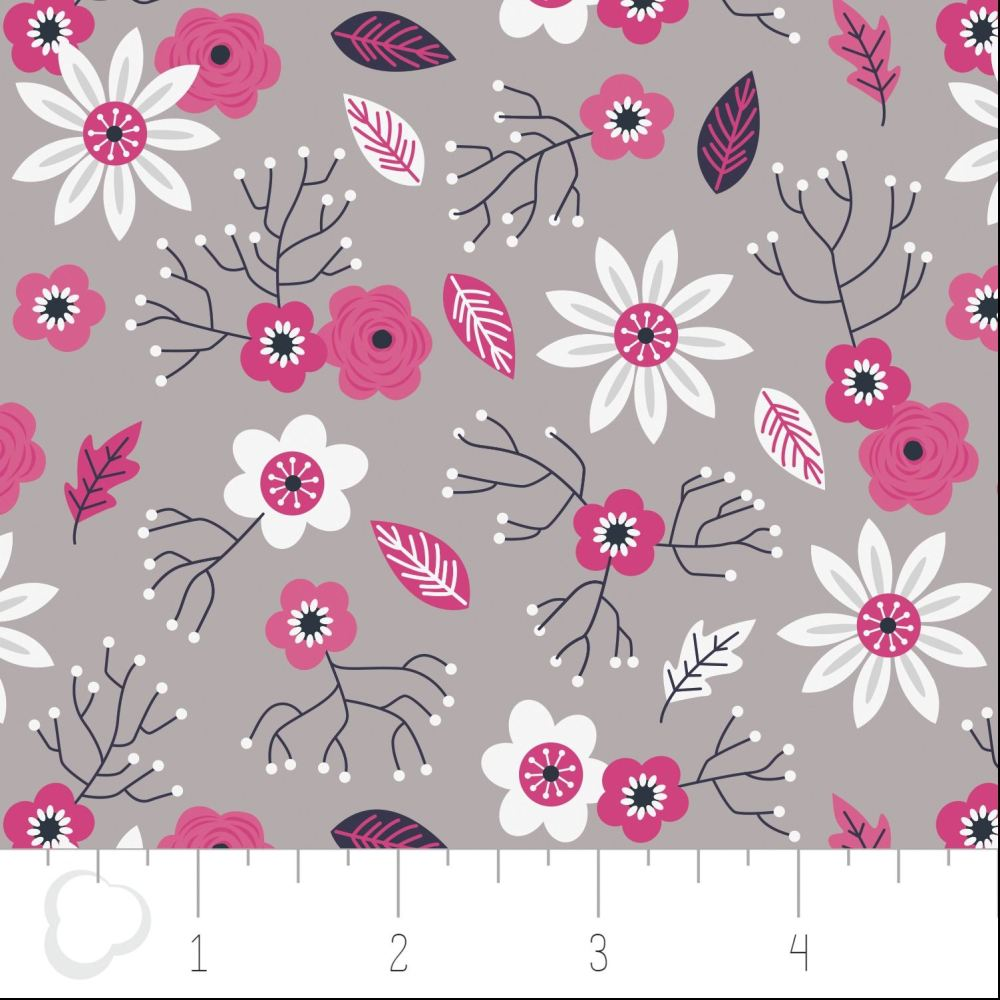 Paradise Floral in Zinc by Camelot Fabrics 100% Cotton