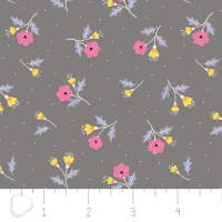 Paradise Ditzy in Iron by Camelot Fabrics 100% Cotton