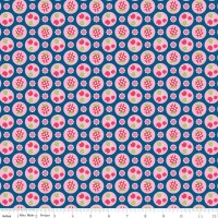 Flutterberry Berries Navy by Riley Blake 100% Cotton
