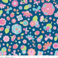 Flutterberry Main Navy by Riley Blake 100% Cotton