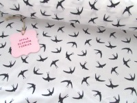 Midnight Swallows by Rose & Hubble 100% Cotton