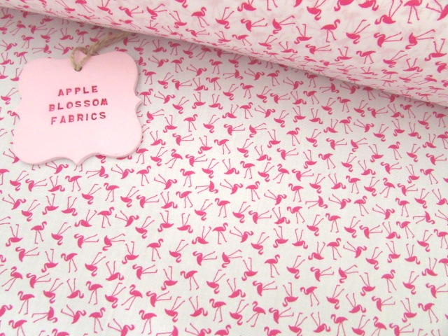 Fuchsia Flamingoes by Rose & Hubble 100% Cotton