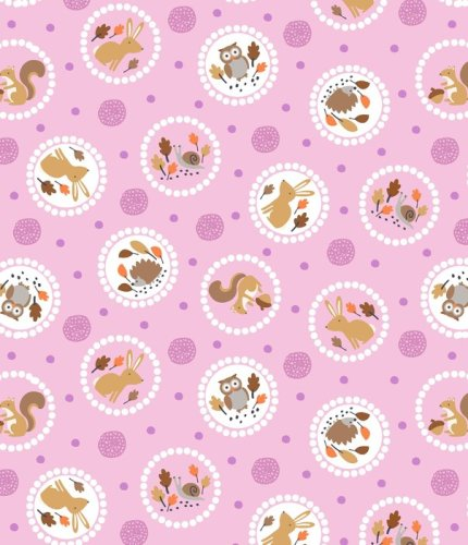Gentle Forest Circles Mauve Pink by Studio E Fabrics 100% Cotton
