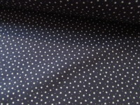 Tiny White Stars on Navy by Rose & Hubble 100% Cotton
