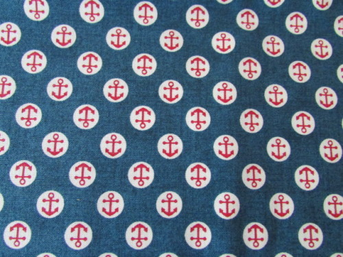 Ahoy Anchors Makower UK 100% Cotton 58 x 112 cm