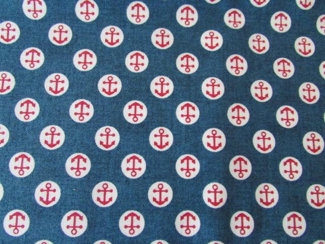 Ahoy Anchors Makower UK 100% Cotton 58 x 112 cm