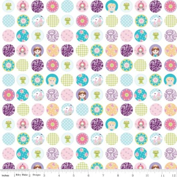 Dream And A Wish Dream Dots White by Riley Blake Designs 100% Cotton