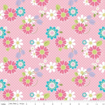 Dream And A Wish Dream Floral Pink by Riley Blake Designs 100% Cotton