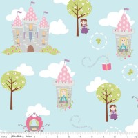 Dream And A Wish Dream Main Blue by Riley Blake Designs 100% Cotton 39 x 106 cm