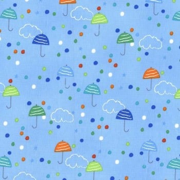 Pitter Patter Drizzle Spring by Michael Miller 100% Cotton