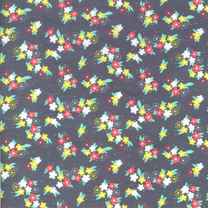Perky Petals Grey by Michael Miller Fabrics 100% Cotton