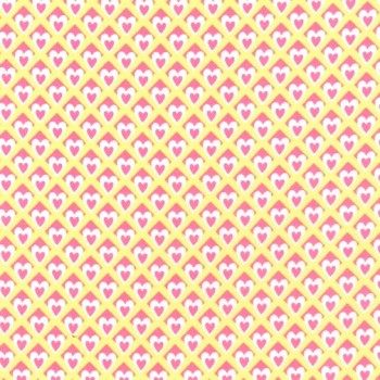 Unicorn Princess Heart O Mine Yellow by Michael Miller Fabrics 100% Cotton