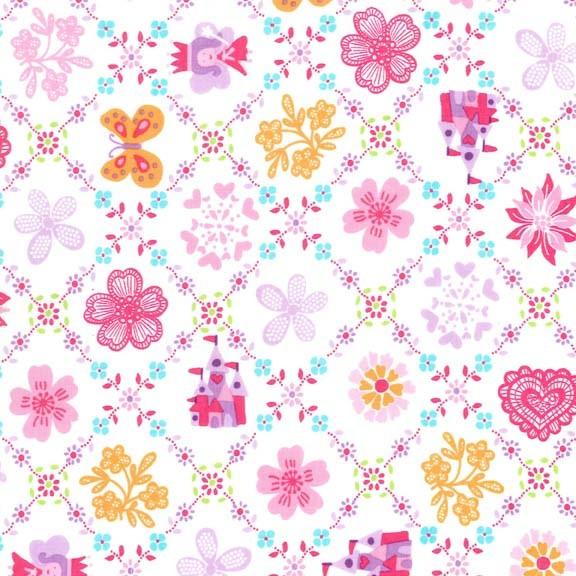 Princess Charming Royal Sampler Brite by Michael Miller Fabrics 100% Cotton
