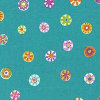 Melodies Folk Floral Dot Mermaid by Michael Miller 100% Cotton