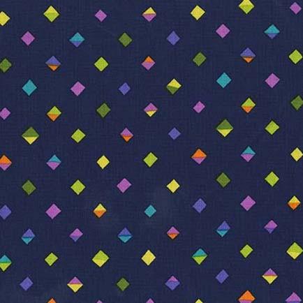 Melodies Split Diamonds Navy by Michael Miller 100% Cotton