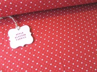 Mini Hearts & Spots Red by Rose & Hubble 100% Cotton
