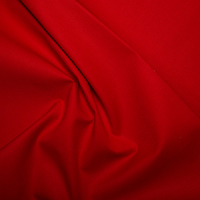 Crimson Red Klona Solid Plain 100% Cotton Extra Wide