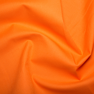 Orange Klona Solid Plain 100% Cotton Extra Wide