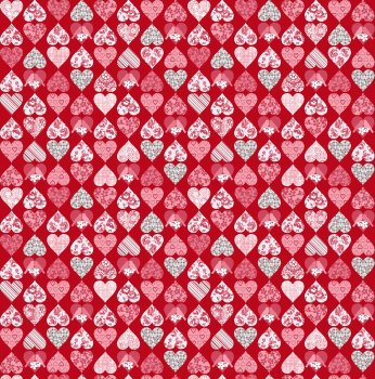 Hugs and Kisses Mosaic Hearts by Studio E Fabrics 100% Cotton