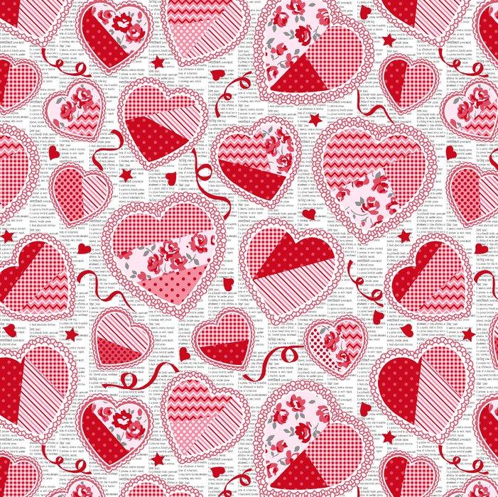Hugs and Kisses Doily Hearts by Studio E Fabrics 100% Cotton