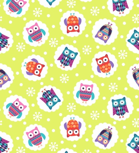 Wings N Things Owls Lime by Studio E Fabrics 100% Cotton