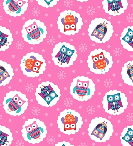 Wings N Things Owls Pink by Studio E Fabrics 100% Cotton